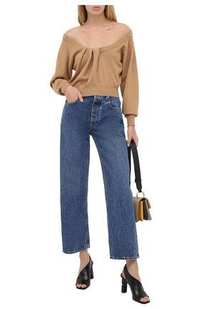 Женская пуловер из шерсти и вискозы ALEXANDER WANG коричневого цвета, арт. 1KC2201003 | Фото 2