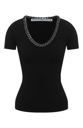 Женская топ ALEXANDER WANG черного цвета, арт. 1KC2201011 | Фото 1