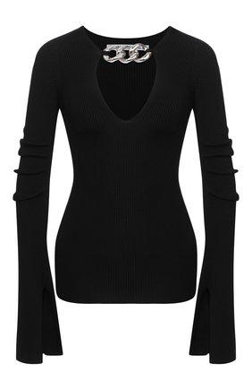Женская пуловер из вискозы ALEXANDER WANG черного цвета, арт. 1KC2201018 | Фото 1