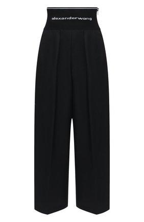 Женские хлопковые брюки ALEXANDER WANG черного цвета, арт. 1WC1204234 | Фото 1