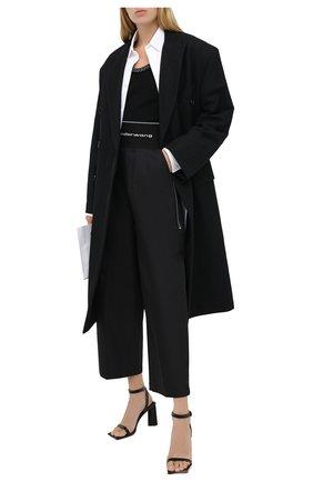 Женские хлопковые брюки ALEXANDER WANG черного цвета, арт. 1WC1204234 | Фото 2