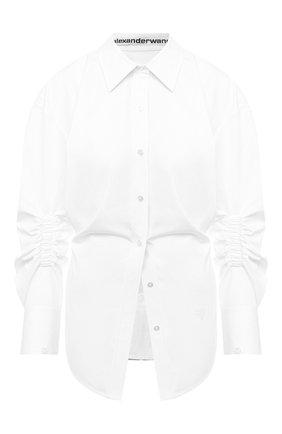 Женская хлопковая рубашка ALEXANDER WANG белого цвета, арт. 1WC2201376 | Фото 1