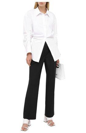 Женская хлопковая рубашка ALEXANDER WANG белого цвета, арт. 1WC2201376 | Фото 2