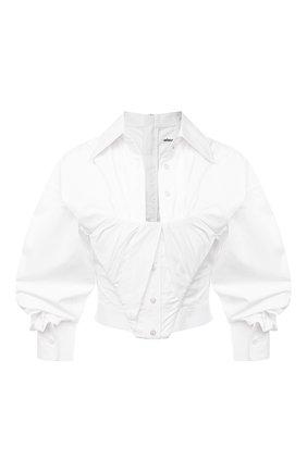 Женская хлопковая блузка ALEXANDER WANG белого цвета, арт. 1WC2201384 | Фото 1
