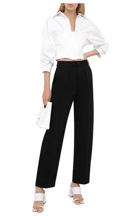 Женская хлопковая блузка ALEXANDER WANG белого цвета, арт. 1WC2201384 | Фото 2