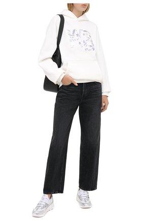 Женская хлопковое худи ALEXANDER WANG белого цвета, арт. UCC2201018 | Фото 2