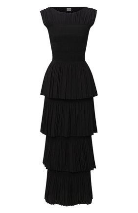 Женское платье-макси TOTÊME черного цвета, арт. ARAM0N 203-607-723 | Фото 1