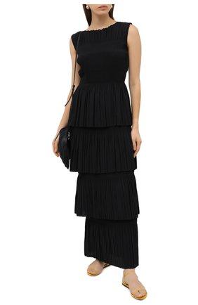 Женское платье-макси TOTÊME черного цвета, арт. ARAM0N 203-607-723 | Фото 2