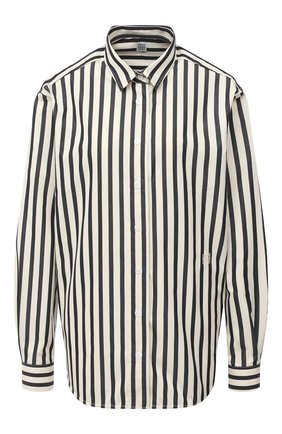 Женская хлопковая рубашка TOTÊME черно-белого цвета, арт. CAPRI 203-708-716 | Фото 1