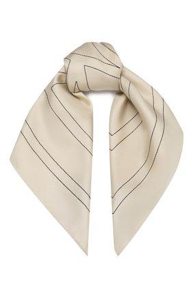 Женский шелковый платок TOTÊME кремвого цвета, арт. PANTELLERIA 201-873-803 | Фото 1