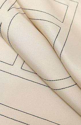 Женский шелковый платок TOTÊME кремвого цвета, арт. PANTELLERIA 201-873-803 | Фото 2