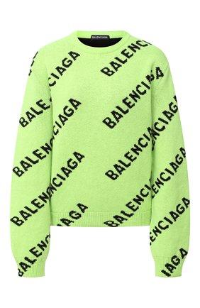 Женский шерстяной свитер BALENCIAGA зеленого цвета, арт. 621019/T1567 | Фото 1