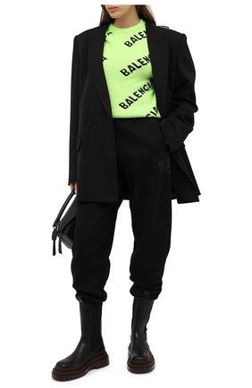 Женский шерстяной свитер BALENCIAGA зеленого цвета, арт. 621019/T1567 | Фото 2