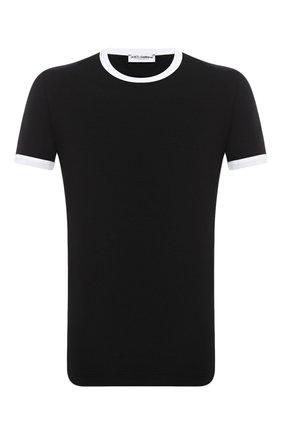 Мужские хлопковая футболка DOLCE & GABBANA черного цвета, арт. M8E41J/FUECH   Фото 1