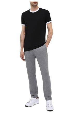 Мужские хлопковая футболка DOLCE & GABBANA черного цвета, арт. M8E41J/FUECH   Фото 2