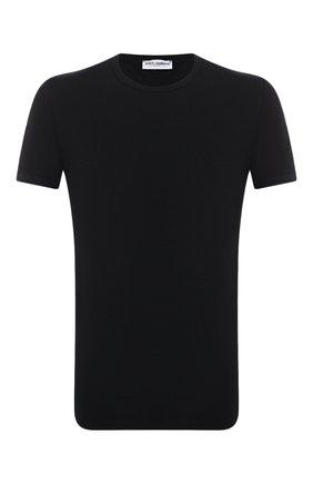 Мужские хлопковая футболка DOLCE & GABBANA черного цвета, арт. M8E21J/FUEB0   Фото 1