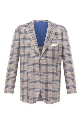 Мужской кашемировый пиджак KITON бежевого цвета, арт. UG81K01T04 | Фото 1