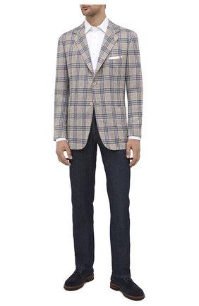 Мужской кашемировый пиджак KITON бежевого цвета, арт. UG81K01T04 | Фото 2