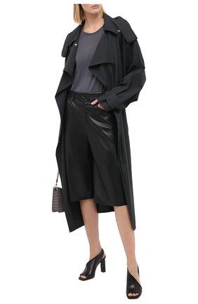 Женская шелковая блузка BRUNELLO CUCINELLI темно-серого цвета, арт. MF948DA110 | Фото 2
