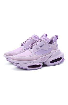 Женские комбинированные кроссовки bold BALMAIN фиолетового цвета, арт. UN1C541/LSSY | Фото 1