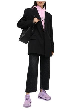 Женские комбинированные кроссовки bold BALMAIN фиолетового цвета, арт. UN1C541/LSSY | Фото 2