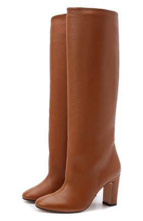 Женские кожаные сапоги KITON оранжевого цвета, арт. D50809X04T82 | Фото 1