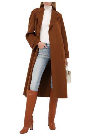 Женские кожаные сапоги KITON оранжевого цвета, арт. D50809X04T82 | Фото 2