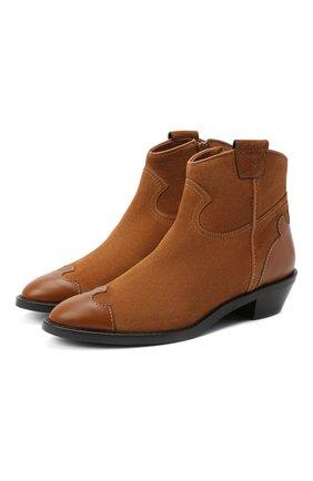 Женские кожаные ботинки western SEE BY CHLOÉ коричневого цвета, арт. SB35041A/12082 | Фото 1