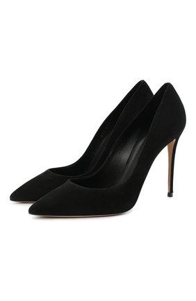 Женские замшевые туфли CASADEI черного цвета, арт. 1F121D1001CAM0S9000 | Фото 1