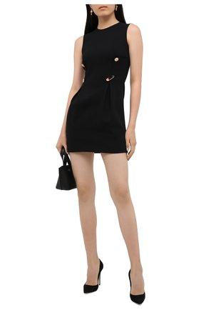 Женские замшевые туфли CASADEI черного цвета, арт. 1F121D1001CAM0S9000 | Фото 2