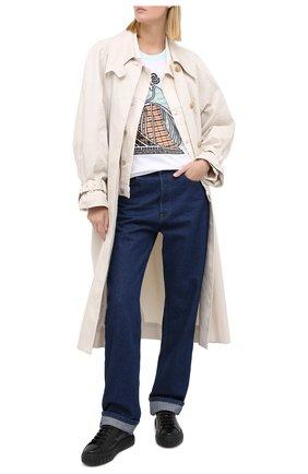 Женские кожаные кеды CASADEI черного цвета, арт. 2X813P020NT0214A721   Фото 2