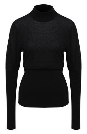 Женская хлопковая водолазка BURBERRY черного цвета, арт. 8032177   Фото 1