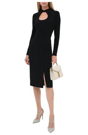 Женские кожаные туфли rockstud VALENTINO светло-серого цвета, арт. UW2S0393/VCE | Фото 2
