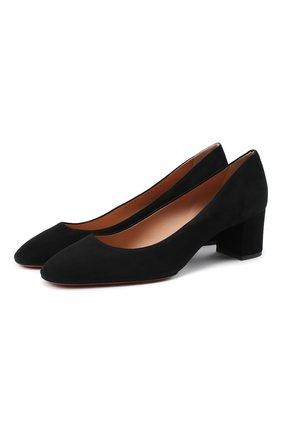 Женская замшевые туфли SANTONI черного цвета, арт. WDLA58930HA2NMGDN01 | Фото 1