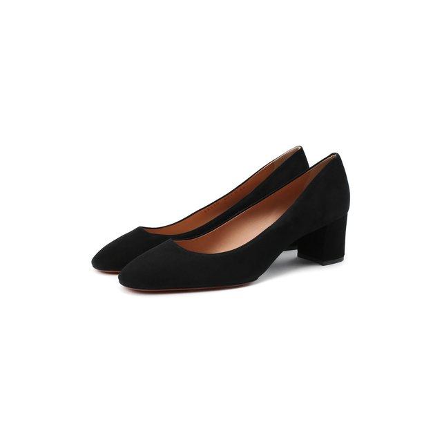 Замшевые туфли Santoni