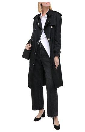 Женская замшевые туфли SANTONI черного цвета, арт. WDLA58930HA2NMGDN01 | Фото 2