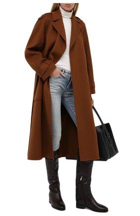 Женские кожаные сапоги SANTONI коричневого цвета, арт. WSNH58900BJ2NE00T50   Фото 2