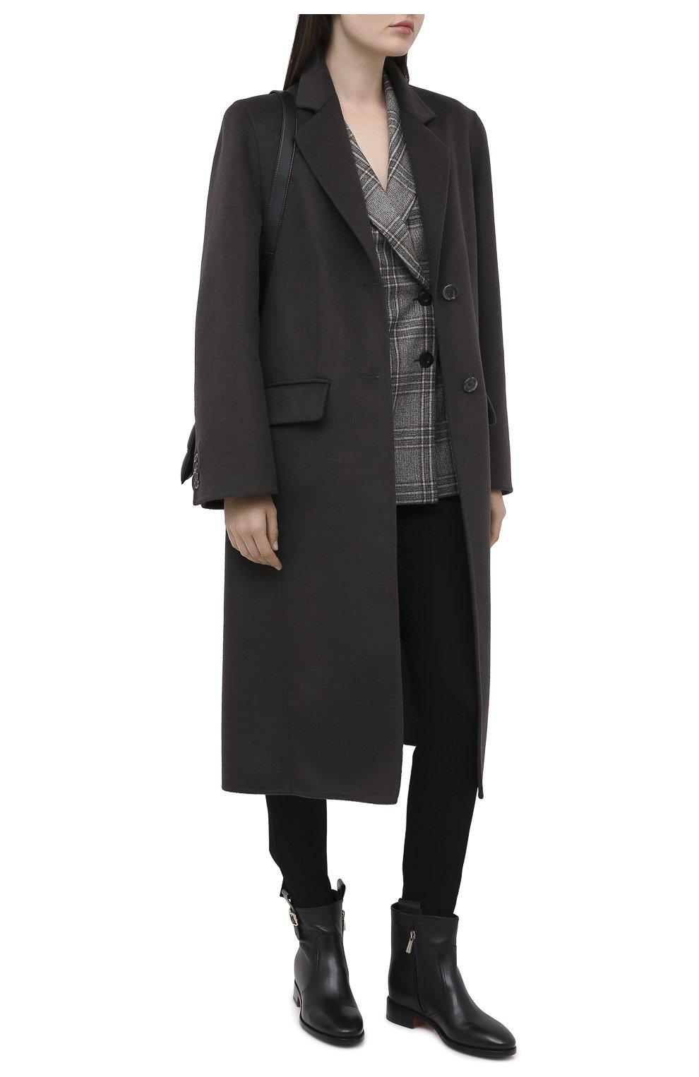 Женские кожаные ботинки SANTONI черного цвета, арт. WTNH58839BJ2NLGAN01   Фото 2