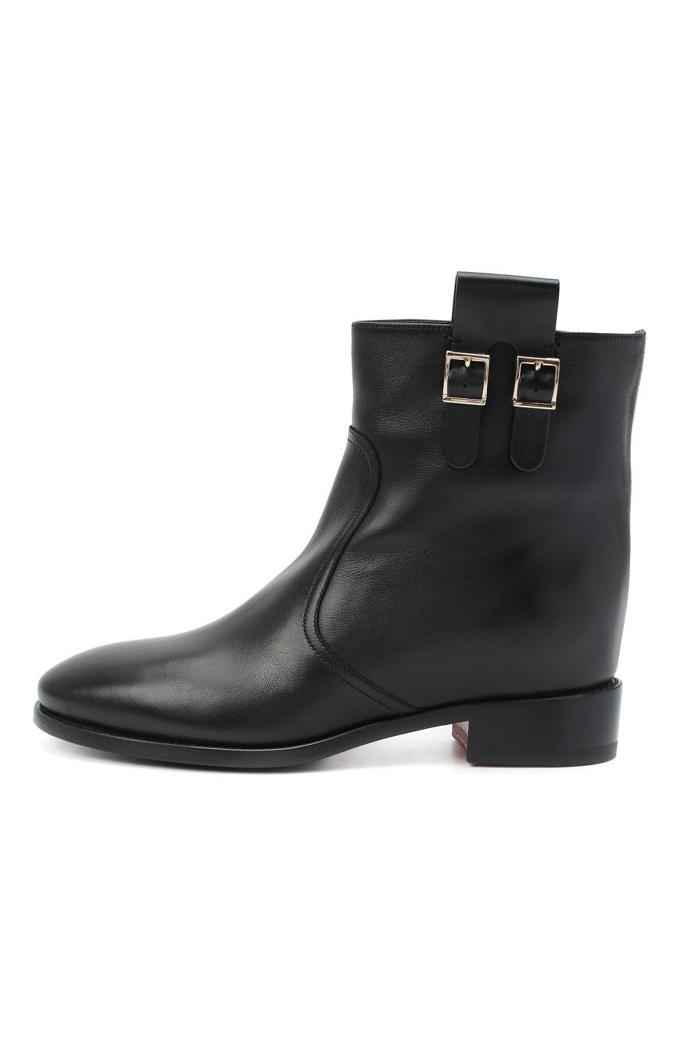 Женские кожаные ботинки SANTONI черного цвета, арт. WTNH58839BJ2NLGAN01   Фото 3