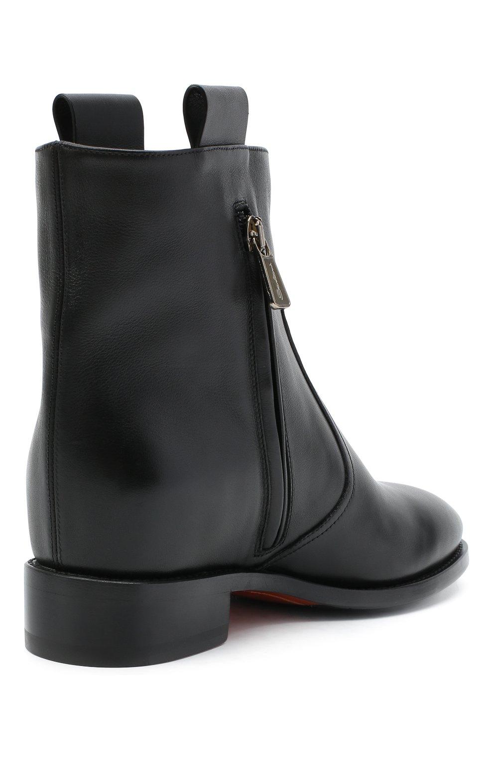 Женские кожаные ботинки SANTONI черного цвета, арт. WTNH58839BJ2NLGAN01   Фото 4