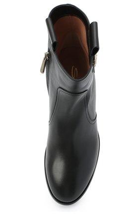 Женские кожаные ботинки SANTONI черного цвета, арт. WTNH58839BJ2NLGAN01   Фото 5