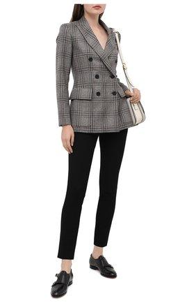 Женские кожаные монки SANTONI черного цвета, арт. WULM58919HA1NILKN01   Фото 2