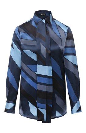 Женская шелковая блузка KITON синего цвета, арт. D48407K05T81   Фото 1