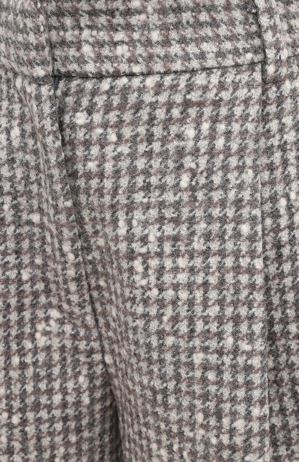 Женские шерстяные шорты KITON серого цвета, арт. D48107K05T24 | Фото 6 (Женское Кросс-КТ: Шорты-одежда; Материал внешний: Шерсть; Длина Ж (юбки, платья, шорты): Мини; Стили: Классический)