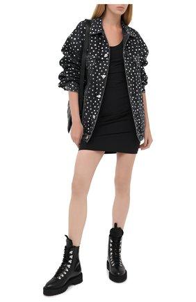 Женское платье ALEXANDER WANG черного цвета, арт. 1WC2206332   Фото 2