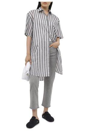 Женские джинсы TOTÊME светло-серого цвета, арт. 0RIGINAL DENIM 32 203-232-743   Фото 2