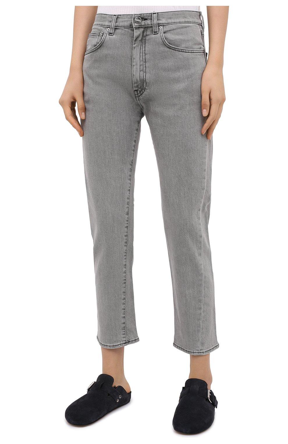 Женские джинсы TOTÊME светло-серого цвета, арт. 0RIGINAL DENIM 32 203-232-743   Фото 3