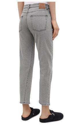 Женские джинсы TOTÊME светло-серого цвета, арт. 0RIGINAL DENIM 32 203-232-743   Фото 4