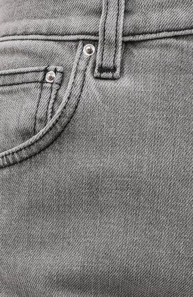 Женские джинсы TOTÊME светло-серого цвета, арт. 0RIGINAL DENIM 32 203-232-743   Фото 5