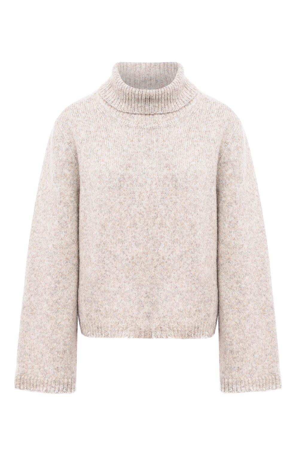 Женский шерстяной свитер TOTÊME светло-серого цвета, арт. RAVENNA 203-584-764 | Фото 1